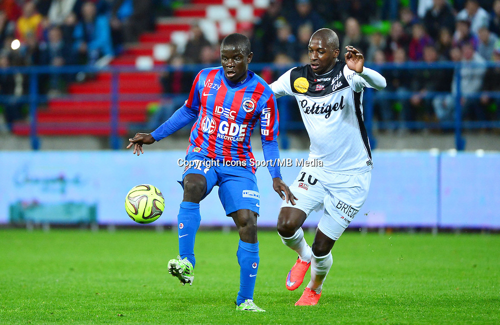 N'Golo KANTE / Younousse SANKHARE - 25.04.2015 - Caen / Guingamp - 34eme journee de Ligue 1<br /> Photo : David Winter / Icon Sport