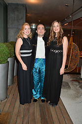 Left to right, JUSTINA VAITKUTE, CHARLES ELIASCH and AMY MITCHELL at the Liberatum Cultural Honour For Sir Terence Conran Dinner held at the Sanderson Hotel, Berners Street, London on 19th November 2013.