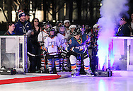 January 15, 2015: The OKCYHA hosts the 8U Winter Classic outdoor hockey game at the Devon Ice Rink in the Myriad Gardens in Oklahoma City, OK.