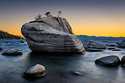 Bonsai Rock on the Nevada side of South Lake Tahoe
