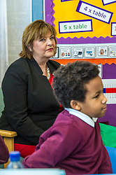 Pictured: Fiona Hyslop<br /> <br /> Culture Secretary Fiona Hyslop MSP unveiled cash awards for Youth Music Initiative schemes which will help young people learn about and enjoy music. Ms Hyslop made the announcement when she joined schoolchildren at Longstone Primary School, Edinburgh today.<br /> <br /> <br /> Ger Harley | EEm 8 March 2018