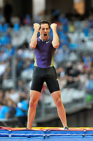 ATHLETICS - AREVA MEETING 2010 - STADE DE FRANCE / ST DENIS (FRA) - 16/07/2010 - PHOTO : PHILIPPE MONTIGNY / DPPI <br /> POLE VAULT - WINNER - RENAUD LAVILLENIE (FRA)