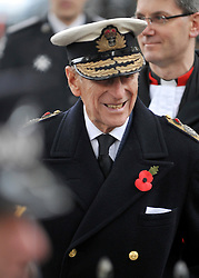 © Licensed to London News Pictures. 10/11/2011. London, UK. HRH The duke of Edinburgh opens the annual Field of Remembrance at Westminster Abbey today 10 November. . Photo credit : Stephen Simpson/LNP