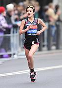 Mao Ichiyama (JPN) places 15th in the women's race in 2:27:27 at the 39th London Marathon in London, Sunday, April 28, 2019. (Jiro Mochizuki/Image of Sport)