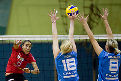 Julia Chukwuma during volleyball match between Calcit Volleyball and A. Linz-Steg in Mevza league on October 23, 2010 at Sport Halli, Kamnik, Slovenia. (Photo By Matic Klansek Velej / Sportida.com)