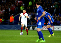 Samir Nasri of Sevilla runs with the ball - Mandatory by-line: Robbie Stephenson/JMP - 14/03/2017 - FOOTBALL - King Power Stadium - Leicester, England - Leicester City v Sevilla - UEFA Champions League round of 16, second leg