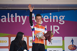 Natalie van Gogh (NED) earns the orange jersey at Healthy Ageing Tour 2018 - Stage 2, a 102.5 km road race starting and finishing in Grootegast on April 5, 2018. Photo by Sean Robinson/Velofocus.com