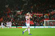 Stoke City defender Erik Pieters (3) applauds the Stoke City fans during the EFL Sky Bet Championship match between Stoke City and Derby County at the Bet365 Stadium, Stoke-on-Trent, England on 28 November 2018.