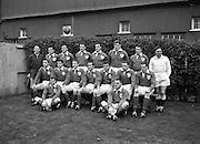 Irish Rugby Football Union, Ireland v New Zealand, Tour Match, Landsdowne Road, Dublin, Ireland, Saturday 7th December, 1963,.7.12.1963, 12.7.1963,..Referee- H Keenen, Rugby Football Union, ..Score- Ireland 5 - 6 New Zealand, ..Irish Team, ..T J Kiernan, Wearing number 15 Irish jersey, Full Back, Cork Constitution Rugby Football Club, Cork, Ireland,..J Fortune, Wearing number 14 Irish jersey, Right Wing, Clontarf Rugby Football Club, Dublin, Ireland,..P J Casey, Wearing number 13 Irish jersey, Right Centre, University College Dublin Rugby Football Club, Dublin, Ireland, ..J C Walsh,  Wearing number 12 Irish jersey, Left Centre, University college Cork Football Club, Cork, Ireland,..A T A Duggan, Wearing number 11 Irish jersey, Left Wing, Landsdowne Rugby Football Club, Dublin, Ireland,..M A English, Wearing number 10 Irish jersey, Stand Off, Landsdowne Rugby Football Club, Dublin, Ireland, ..J C Kelly, Wearing number 9 Irish jersey, Captain of the Irish team, Scrum Half, University College Dublin Rugby Football Club, Dublin, Ireland,..P J Dwyer, Wearing number 1 Irish jersey, Forward, University College Dublin Rugby Football Club, Dublin, Ireland, ..A R Dawson, Wearing number 2 Irish jersey, Forward, Wanderers Rugby Football Club, Dublin, Ireland, ..R J McLoughlin, Wearing number 3 Irish jersey, Forward, Gosforth Rugby Football Club, Newcastle, England, ..W J McBride, Wearing number 4 Irish jersey, Forward, Ballymena Rugby Football Club, Antrim, Northern Ireland,..W A Mulcahy, Wearing number 5 Irish jersey, Forward, Bective Rangers Rugby Football Club, Dublin, Ireland,  ..E P McGuire, Wearing number 6 Irish jersey, Forward, University college Galway Football Club, Galway, Ireland,  ..P J A O' Sullivan, Wearing  Number 8 Irish jersey, Forward, Galwegians Rugby Football Club, Galway, Ireland,..N A Murphy, Wearing number 7 Irish jersey, Forward, Cork Constitution Rugby Football Club, Cork, Ireland,