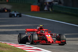 April 15, 2018 - Shanghai, China - 07 RAIKKONEN Kimi (fin), Scuderia Ferrari SF71H, action during 2018 Formula 1 FIA world championship, China Grand Prix, at Shanghai from April 12 to 15  (Credit Image: © Hoch Zwei via ZUMA Wire)