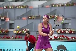 May 11, 2018 - Madrid, Madrid, Spain - KIKI BERTENS in a match against CAROLINE GARCIA during the semi finals of Mutua Madrid Open 2018 - WTA in Madrid. KIKI BERTENS won the match 6-2 6-2. (Credit Image: © Patricia Rodrigues via ZUMA Wire)
