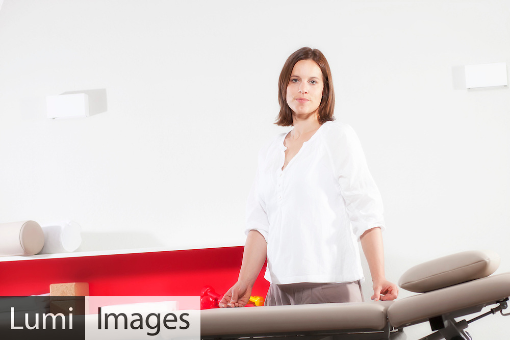 Female osteopath in Physiotherapy Practice, Munich, Bavaria, Germany