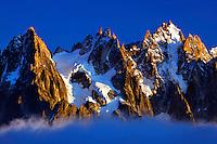 Mountain impression Aiguilles de Chamonix - Europe, France, Haute Savoie, Aiguilles Rouges, Chamonix, Lac Blanc - Sunset - September 2008