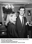 David Faber & Sally Gilbert. Conservative Conference. Bournemouth. 9 October 1986. film 86820f6<br />