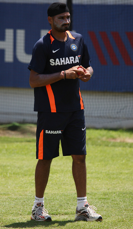 Harbhajan Singh during the South Africa and India team practice sessions held at Kingsmead Stadium in Durban on Christmas eve, 24th December.  ( The second test match between South Africa and India is due to start on 26th December 2010 at Kingsmead )..Photo by Steve Haag/BCCI/SPORTZPICS