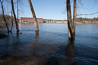 Spring High Water, Connecticut River, Vernon Dam, VT.