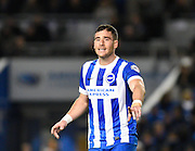 Brighton striker, Tomer Hemed (10), shortly after scoring the second goal during the Sky Bet Championship match between Brighton and Hove Albion and Brentford at the American Express Community Stadium, Brighton and Hove, England on 5 February 2016. Photo by David Charbit.