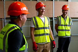 New Head Coach Dean Holden and Bristol City Chairman Jon Lansdown during a tour of the new Training Ground build as Bristol City announce their new coaching staff ahead of the 2020/21 Championship Season - Rogan/JMP - 10/08/2020 - Failand - Bristol, England.