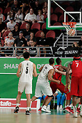 14th April 2018, Gold Coast Convention and Exhibition Centre, Gold Coast, Australia; Commonwealth Games day 10, Basketball, Mens semi final, New Zealand versus Canada; New Zealands Shea Ili scores a point to put New Zealand in the lead with 5 seconds to go