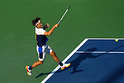 FLUSHING MEADOW, NY - SEPTEMBER 04: DOMINIC THIEM (AUT) during day eight match of the 2017 US Open on September 04, 2017 at Billie Jean King National Tennis Center, Flushing Meadow, NY.(Photo by Chaz Niell/Icon Sportswire)
