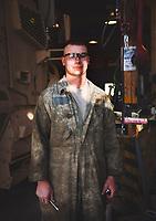 Sgt. Chris Lindahl, Iowa National Guard's 2-34th BSB mechanic shop in the Parwan province of Afghanistan<br /> <br /> Chicago Freelance Documentary Photographer   Alyssa Schukar   Photojournalist
