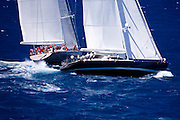 Ganesha and Destination Fox Harb'r racing in the St. Barth's Bucket Regatta.