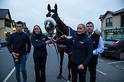 19th March 2016, Gordon Elliott trained Don Cossack homecoming to Summerhill<br /> Jockey Bryan Cooper and Gordon Elliott with Don Cossack during his homecoming at Summerhill<br /> Photo: David Mullen /www.cyberimages.net / 2016