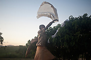 Monduli Juu - Drying clothes on bushes.