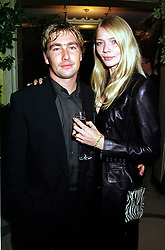 Model JODIE KIDD and her close friend MR TARQUIN SOUTWELL, at a party in London on 17th October 2000.OHY 90