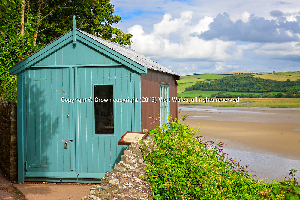 Writing Shed<br /> Dylan Thomas Boathouse<br /> Laugharne<br /> Carmarthenshire<br /> South<br /> Houses<br /> Historic Sites