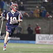 Stephen Berger #10 of the Boston Cannons is seen during the game at Harvard Stadium on May 10, 2014 in Boston, Massachusetts. (Photo by Elan Kawesch)