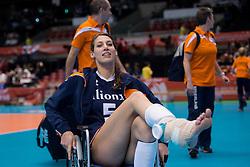 15-05-2016 JAP: OKT Nederland - Zuid Korea, Tokio<br /> Er is nog niets verloren, maar de volleybalsters van Oranje hebben tijdens het OKT een gevoelige 3-0 nederlaag geleden tegen Zuid-Korea / Robin de Kruijf #5