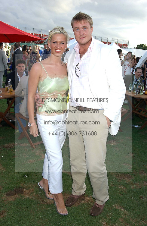ALEX &amp; KIRSTY RAYNER at the 2005 Cartier International Polo between England &amp; Australia held at Guards Polo Club, Smith's Lawn, Windsor Great Park, Berkshire on 24th July 2005.<br /><br />NON EXCLUSIVE - WORLD RIGHTS