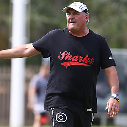 DURBAN, SOUTH AFRICA, December 3 2015 - Gary Gold (Sharks Director of Rugby) during The Cell C Sharks Pre Season training for the 2016 Super Rugby Season at Growthpoint Kings Park in Durban, South Africa. (Photo by Steve Haag)<br /> images for social media must have consent from Steve Haag and are copyright Steve Haag
