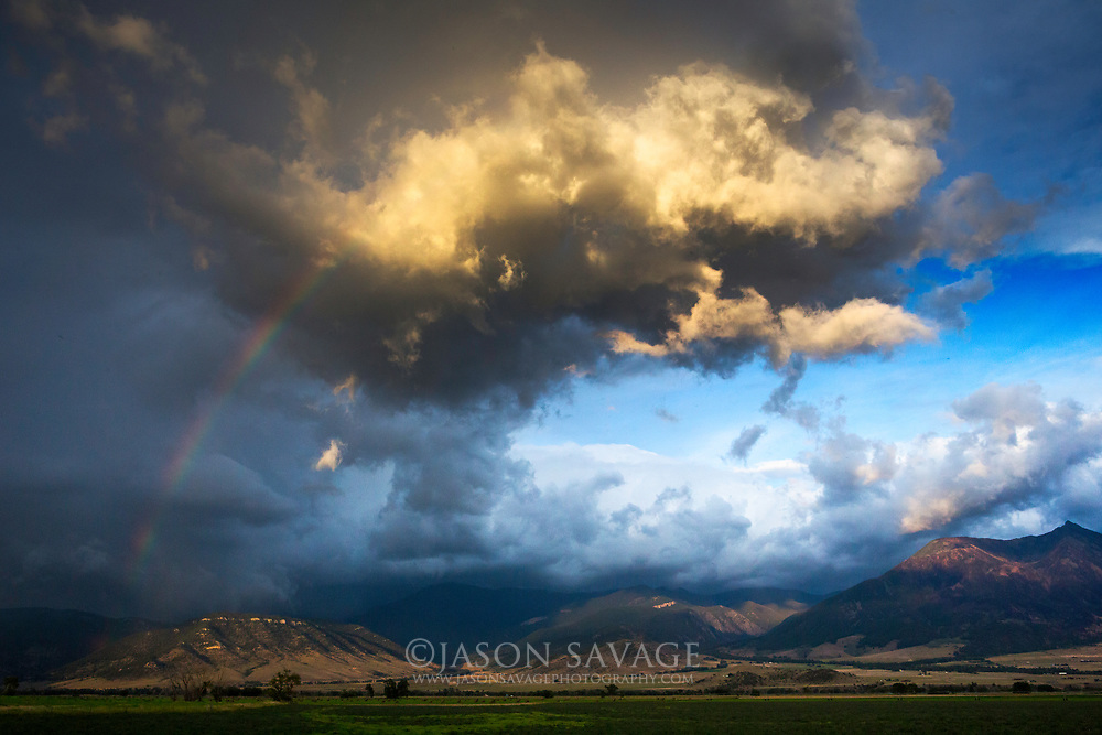 Passing storm in Montana's Paradise Valley.