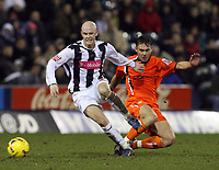 Photo: Rich Eaton.<br /> <br /> West Bromwich Albion v Luton Town. Coca Cola Championship. 12/01/2007. Richard Chaplow left of West Brom escapes the tackle of Sol Davis of Luton