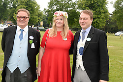 Left to right, PIERS POTTINGER, his daughter  POTTINGER and son ARCHIE POTTINGER at the 2nd day of the 2013 Royal Ascot Horseracing festival at Ascot Racecourse, Ascot, Berkshire on 19th June 2013.