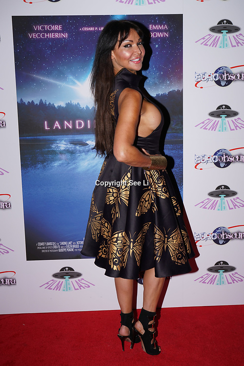 London, England, UK. 14th September 2017.Lizzie Cundy is a TV Presenter attend the Landing Lake Film Premiere at Empire Haymarket,London, UK.