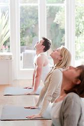 People practicing yoga