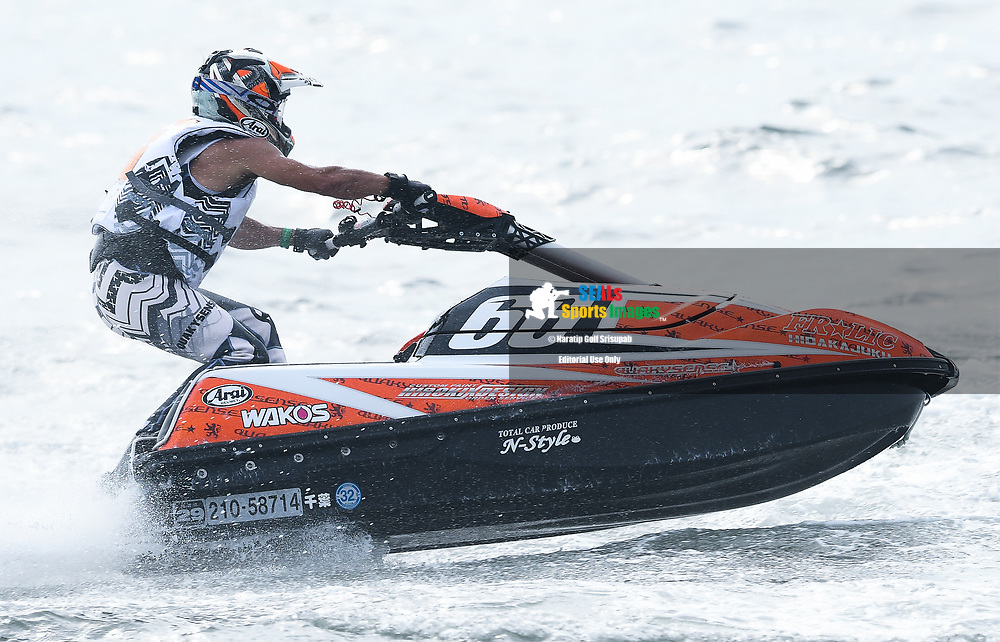 PATTAYA, THAILAND - DECEMBER 09: Mizuo Hidaka (66) of Japan and Frolic in action during the Pro Ski Grandprix Moto4 at the Thai Airways International Jet Ski World Cup 2018, Jomtien Beach, Pattaya, Thailand on December 09, 2018. <br /> .<br /> .<br /> .<br /> (Photo by: Naratip Golf Srisupab/SEALs Sports Images)<br /> .<br /> Any image use must include a mandatory credit line adjacent to the content which should read: Naratip Golf Srisupab/SEALs Sports Images