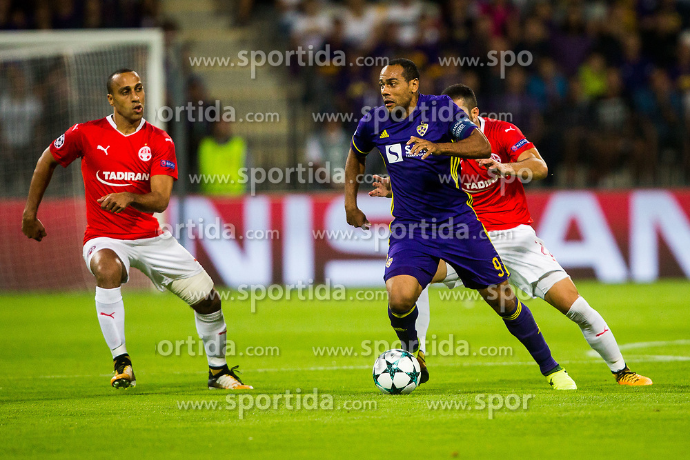 Marcos Tavares of NK Maribor during football match between NK Maribor and Hapoel Beer-Sheva in Second leg of UEFA Champions League playoff round, on August 22 2017 in Ljudski vrt, Maribor, Slovenia. Photo by Ziga Zupan / Sportida
