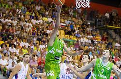 Nebojsa Joksimovic of Slovenia during friendly match between National teams of Slovenia and Serbia for Eurobasket 2013 on August 3, 2013 in Arena Zlatorog, Celje, Slovenia. Slovenia derated Serbia 67-52. (Photo by Vid Ponikvar / Sportida.com)