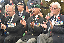 April 25, 2017 - Auckland, New Zealand - War veterans join the games' participants to pay tribue to the fallen heroes during the World Masters Games 2017 Anzac Day commemoration  at Queen's Wharf in Auckland. (Credit Image: © Shirley Kwok/Pacific Press via ZUMA Wire)