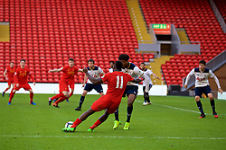 LIVERPOOL, ENGLAND - Sunday, February 5, 2017: Liverpool's Sheyi Ojo scores the second goal against Tottenham Hotspur to equalise at 2-2 during FA Premier League 2 Division 1 Under-23 match at Anfield. (Pic by David Rawcliffe/Propaganda)