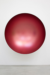 © Licensed to London News Pictures. 09/10/2012. LONDON, UK.  Anish Kapoor's sculpture 'Hollow' (2012) is seen at a press view ahead of his new exhibition at the Lisson Gallery in London today (09/12/12) . The exhibition, the first since the artists solo exhibition at the Royal Academy of the Arts in 2009, features new works by Kapoor and runs from the 10th of October to the 10th of November 2012. Photo credit: Matt Cetti-Roberts/LNP