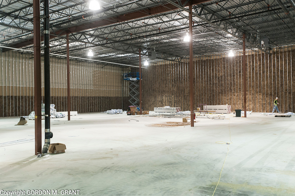 Interior of the new space that Tate's Bake Shop will expand it's distribution center into at the Hampton Business District at Gabreski Airport in Westhampton, Jan. 16, 2018.