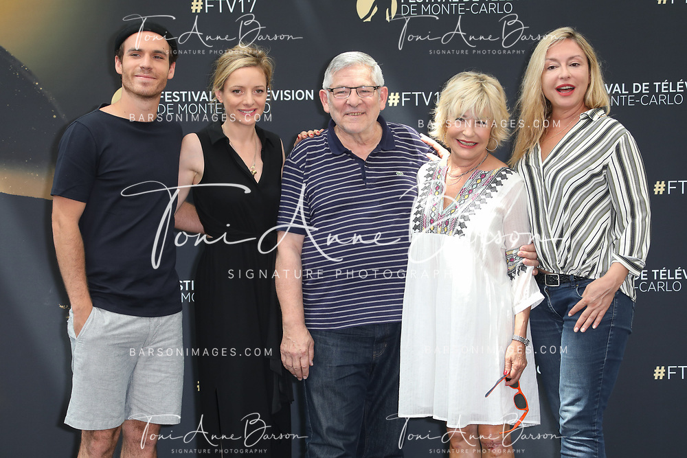 "MONTE-CARLO, MONACO - JUNE 17:  (L-R) Axel Huet, Charlie Bruneau, Yves Pignot, Marie Vincent and Jeanne Savary attend photocall for ""En Famille"" on June 17, 2017 at the Grimaldi Forum in Monte-Carlo, Monaco.  (Photo by Tony Barson/FilmMagic)"