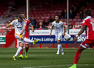 Michael Tonge of Port Vale shoots during the Sky Bet League 2 match at  Checkatrade.com Stadium, Crawley<br /> Picture by Liam McAvoy/Focus Images Ltd 07413 543156<br /> 05/08/2017