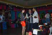 LAUREN JONES; ALEX COLLISHAW; RONOYOY DAM, Gazelli host The Colbert Art Party last night at  LouLou's, The Bauer in Venice, Venice Biennale, Venice. 7 May 2015