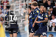 Leeds United midfielder Pablo Hernandez (19) scores a goal 2-2 and celebrates during the EFL Sky Bet Championship match between Swansea City and Leeds United at the Liberty Stadium, Swansea, Wales on 21 August 2018.